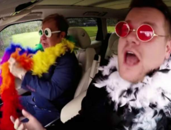 WATCH: James Corden Is Joined By The Legendary Elton John For Special, Post-Super Bowl 'Carpool Karaoke'