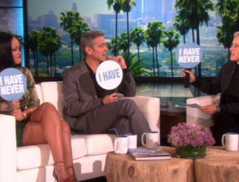 Rihanna And George Clooney Join Forces To Take On Ellen's Hilarious 'Never Have I Ever' Game! (VIDEO)