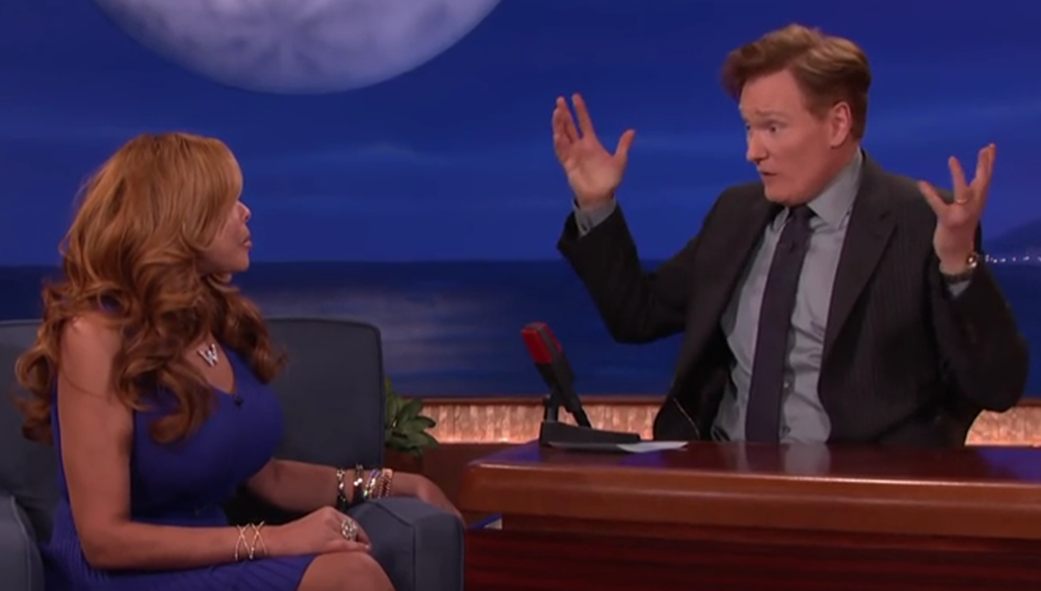 Conan and Wendy Williams