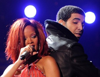 FINALLY! Drake's Tattoo of Rihanna Confirmed.  A Photo In Drake's Restaurant Identified as Source.