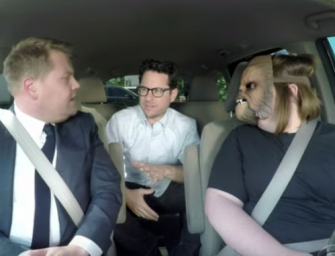 The 'Chewbacca Mom' Who Took Over The Internet Takes James Corden And J.J. Abrams To Work! (VIDEO)