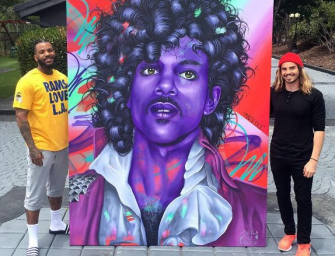 The Game Drops $65k On This Massive Custom Painting Inspired By Prince's Purple Rain