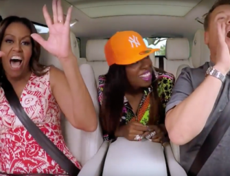 The Best Carpool Karaoke Ever? Michelle Obama Joins James Corden On His Drive To Work, And Missy Elliott Jumps In On The Fun! (VIDEO)