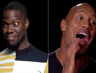 Kevin Hart And Dwayne Johnson Do Hilarious Impressions Of Each Other During Wild Interview (VIDEO)