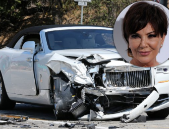 Kris Jenner Is In Pain After Being Involved In A Scary Car Crash In California Yesterday, We Got The Accident Photos And Update On Her Condition!