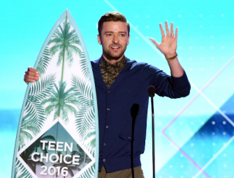 Justin Timberlake Shares Important Life Advice With A Bunch Of Pokémon Addicted Teens At The 2016 Teen Choice Awards (VIDEO)
