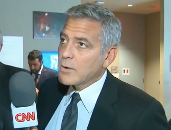 Watch The Moment George Clooney Finds Out His Close Friend Brad Pitt Is Getting A Divorce (VIDEO)
