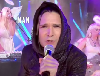 Corey Feldman Breaks Down In Tears After Putting On One Of The Worst Live Performances In TV History (VIDEO)