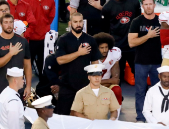 Colin Kaepernick Takes A Knee During Anthem, And Then Donates $1 Million To Help Communities In Need! (VIDEO)