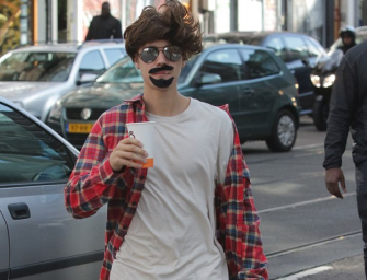 Justin Bieber Has A Little Fun In Amsterdam With A Hilariously Terrible Disguise, Check Out The Photos Inside!