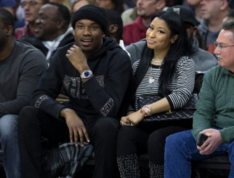 FEETSGIVING: The Internet Is Freaking Out Over This Photo Of Meek Mill Worshiping Nicki Minaj's Feet (PHOTO + REACTION)