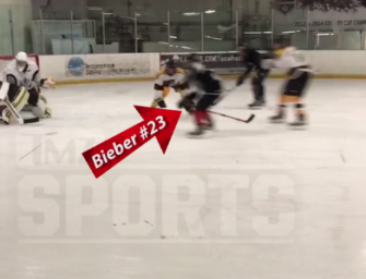 Girls Love A Bad Guy: Justin Bieber Nearly Gets Into Another Fight, And This Time It Was On The Ice…We Got The Video Inside!