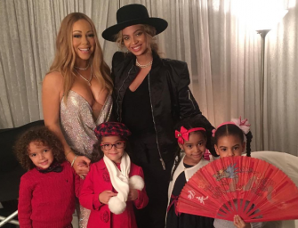 The Shade Is Strong: Beyonce Lets Blue Ivy Play With Mariah Carey's Kids…But North West Still Waiting For That Invite! (PHOTO)