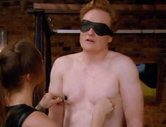 Must Watch: Conan O' Brien Submits To A Dominatrix While In Berlin And It's Freaking Hilarious (VIDEO)