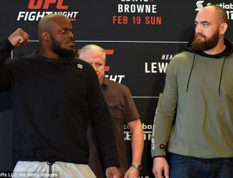 Ronda Rousey's Boyfriend, Travis Browne K.O.'d by Derrick Lewis.  Lewis holla's at Ronda, Calls Browne a Wife Beater and Says he has to Go Boo Boo in Best Post Fight Interview Ever (VIDEO)