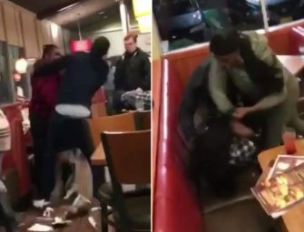 Living Meme/Comedian Nick Nack Films Insane Fight At A Denny's In New York…Watch The Epic Fight Footage!