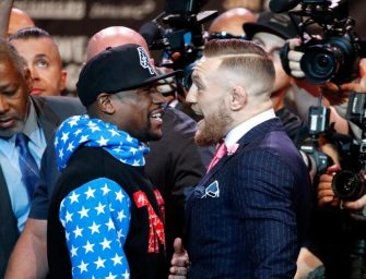"""Floyd Mayweather Says He's Not Offended By Conor McGregor's Slightly Racist """"Dance For Me, Boy"""" Comments (VIDEO)"""