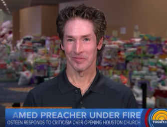 Joel Osteen Responds To The Hurricane Harvey Backlash In TV Interview, Says All The Claims Against His Church Are False (VIDEO)