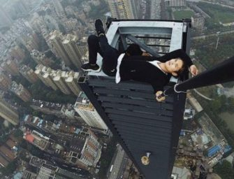 IT'S ALL FUN UNTIL… Chinese Social Media Daredevil Plunges To His Death Trying to Do Pull Ups on Side of a Building. (VIDEO)