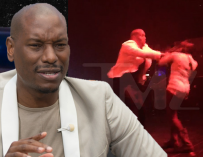 Tyrese Abruptly Shoves Female Fan Who Jumps On Stage.  He looks Scared and then Appears to be Immediately Remorseful.  It Looks Harsh, But You Can't Blame Him…Can You?  (VIDEO)