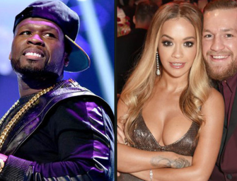 50 Cent and Conor McGregor Beef Gets Real.  Real Personal.  50 Calls Conor Out for Cheating on His Girlfriend and Conor Posts a 50 Cent Woman's Day Tribute. Hee Hee!  (Posts)