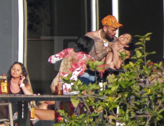 Photos Show Chris Brown Choking A Girl, But It's Not What You Think!? CHECK OUT THE PHOTOS + FULL STORY!