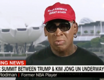 Dennis Rodman Is Out Here Weeping On National Television Because Donald Trump And Kim Jong Un Shook Hands (VIDEO)