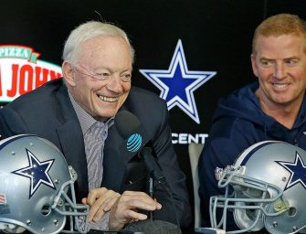 Cowboys Owner Jerry Jones' DGAF What You have to Say.  Cowboys are Standing During the Anthem and They will Continue to Support Papa John!  END OF DISCUSSION