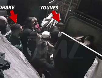 Watch Drake 'Nope' Out Of Fight When Kourtney Kardashian's Ex Brutally Attacks An Employee At Hollywood Nightclub (VIDEO)