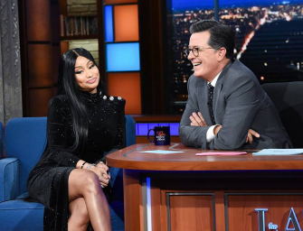 Nicki Minaj Leaves Stephen Colbert Speechless By Flirting With Him And Rapping About She Wants To Have Sex With Him (VIDEO)