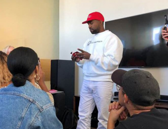 Kanye West Confuses Everyone By Wearing MAGA Hat With Colin Kaepernick Sweatshirt