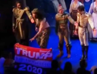 'Frozen' Broadway Actor Timothy Hughes Rips 'Trump 2020' Flag Out Of Spectator's Hand During Curtain Call (VIDEO)