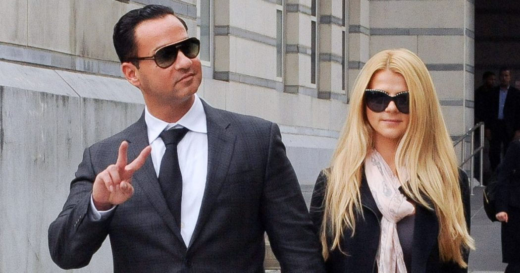 Mike Sorrentino Exits The Courthouse After Being Sentenced To Only Eight Months In Prison For Tax Evasion In Newark
