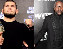 Floyd Mayweather Is Up For Boxing UFC Star Khabib Nurmagomedov, Wants 9-Figure Payday (VIDEO)