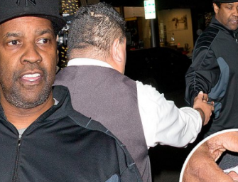 Denzel Washington Gives Valet Driver An Early Chri$tma$ Gift With A Huge Tip!