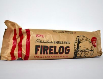 KFC Is Selling Logs For Your Fireplace That Smell Like Fried Chicken