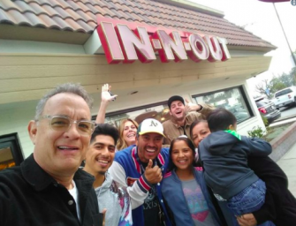 Good Guy Tom Hanks Dines At In-N-Out, Then Takes Selfies With Fans And Buys Their Lunch (VIDEO)