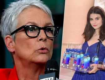 Get Off My Lawn: Jamie Lee Curtis Is Super Upset That Fiji Water Girl Photobombed Her At The Golden Globes (PHOTO)