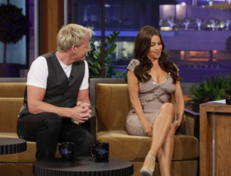 Find Out Why People Are Trippin' Over This Old Clip Of Gordon Ramsay And Sofia Vergara On The Tonight Show (VIDEO)
