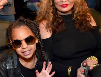 Tina Knowles Looks Extremely Uncomfortable While Letting Blue Ivy Carter Tell A Corny Joke On Her Instagram (VIDEO)