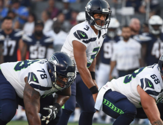 Russell Wilson Gives Back To Those Who Protect Him, His Offensive Linemen, With $12,000 In Amazon Stock!