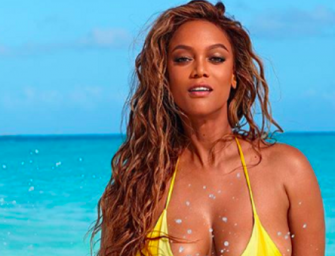 Tyra Banks Shows Off Her Bikini Body On Sports Illustrated Cover Wearing Same Bikini She Wore 22 Years Ago