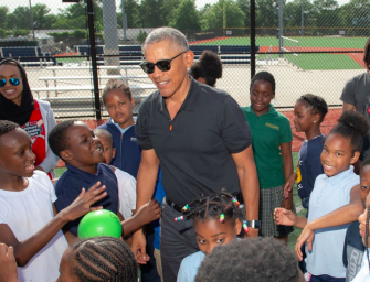 Barack Obama Surprises Kids At D.C. After-School Program, Shows Off His Football And Baseball Skills (VIDEO)