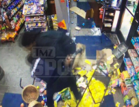 INSANE VIDEO: NFL Player Malik McDowell Fights Police Officer Inside Gas Station Even After Getting Tased!