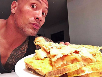 Dwayne Johnson Talks About His Insane Cheat Meals: Sushi, Pancakes, Cookies…AND MORE!