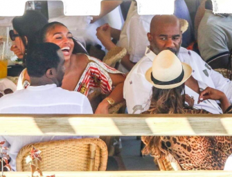"Sean ""Diddy"" Combs Was Back Hanging Out With Steve Harvey's Daughter Again, But This Time Steve Was There! (PHOTO)"