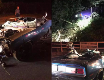 Kevin Hart Suffers Major Injuries After His Vintage Ride Smashes Through Fence And Rolls Into Ditch (PHOTOS)