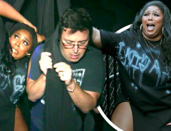 Lizzo And 'Average Andy' From The Ellen Show Get Scared As Hell Going Through Haunted House (HILARIOUS VIDEO)