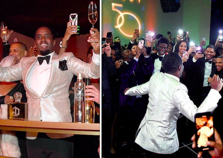 Diddy's Insane 50th Birthday Celebration Does The Impossible By Bringing Kanye West And Jay-Z Together