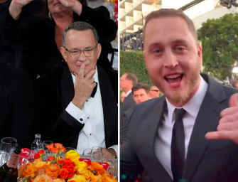 Tom Hanks Bring His Entire Family To Golden Globes, Including His Son Chet Who Truly Believes He's Black (Awkward Video)